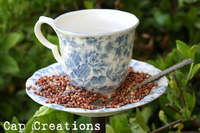 Cap Creations DIY Teacup Bird Feeder