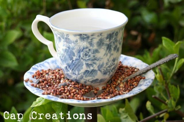 Cap Creations DIY Teacup Bird Feeder