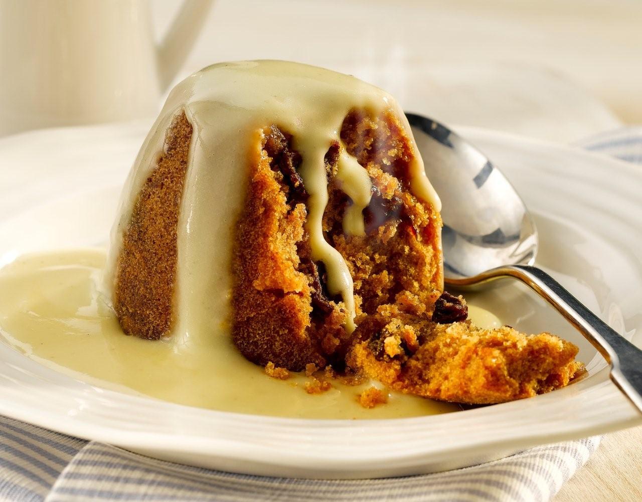 Spotted Dick Sponge Cake
