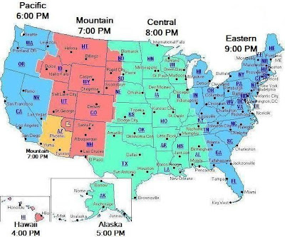 maps usa map time zone