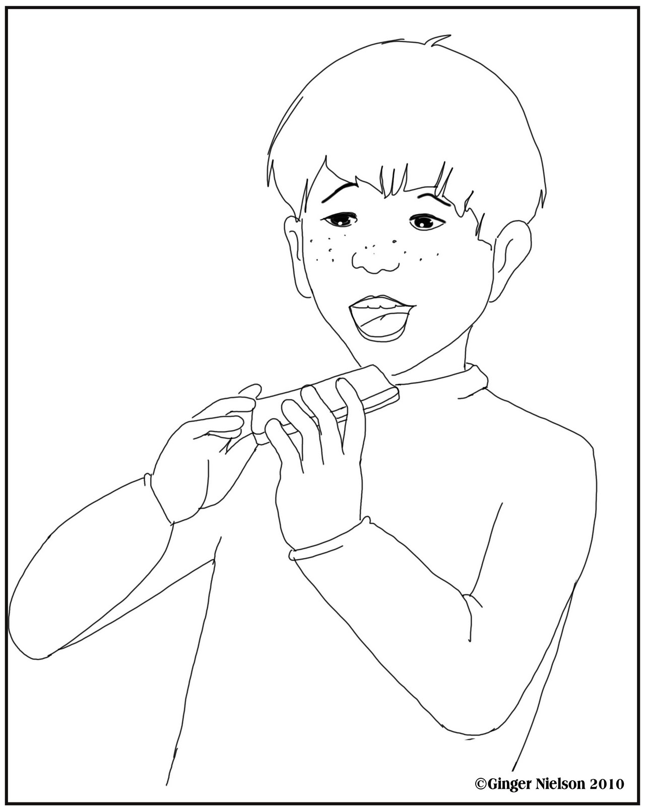 Harmonica Printable Coloring Pages