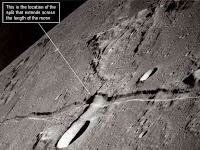 Splitting of the Moon an Amazing Story