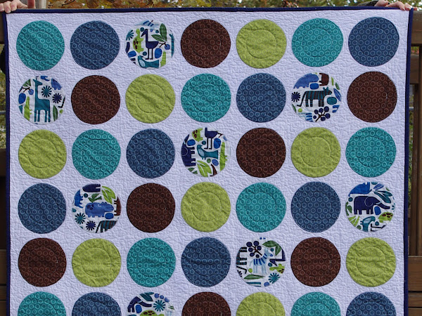 Baby Boy Circle Quilt