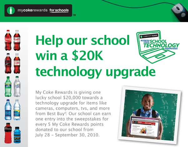 mycokerewards sweepstakes winners the birney buzz help our school win a 20k technology upgrade 929