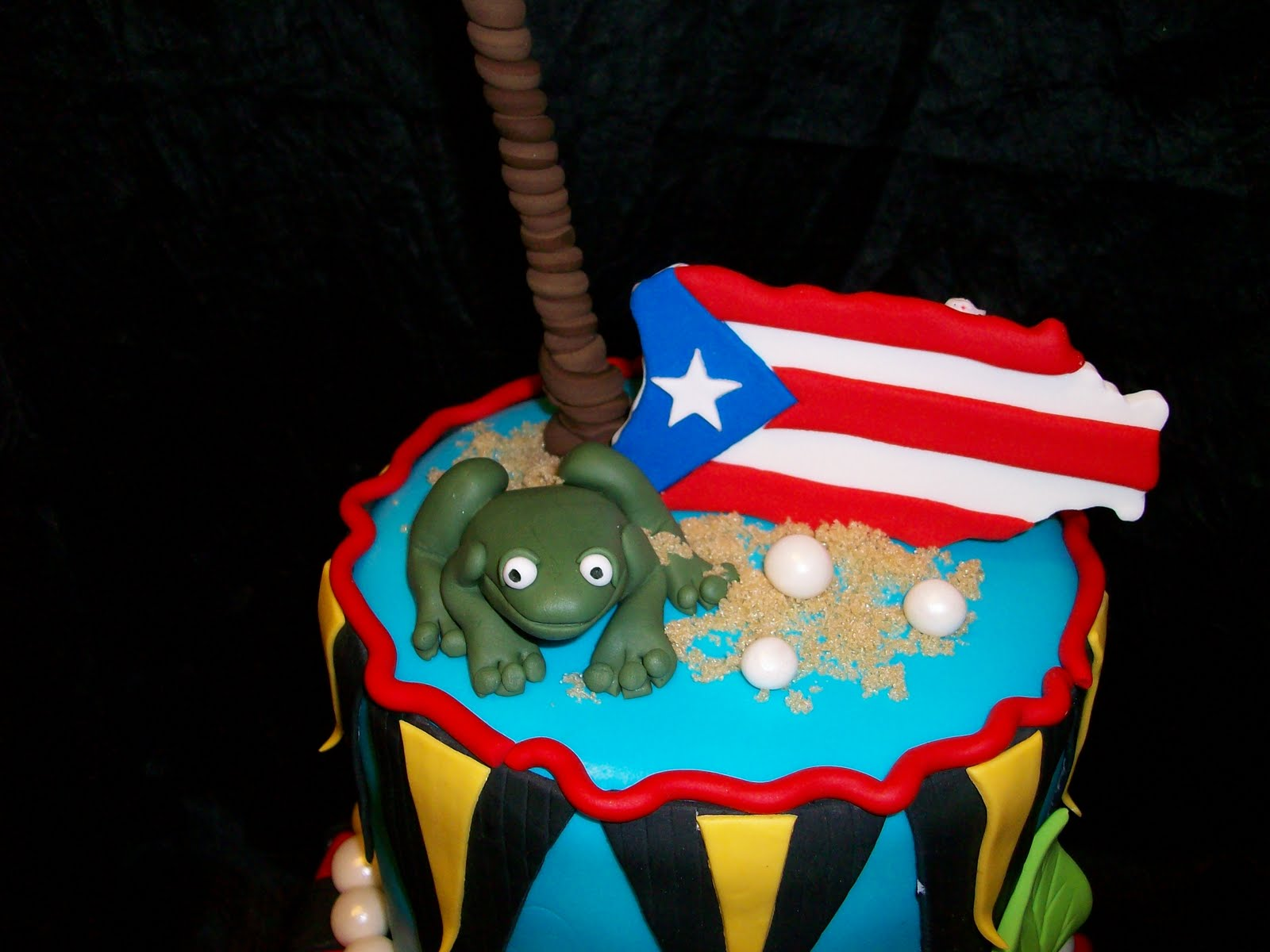 Puerto Rico Themed Birthday Cake