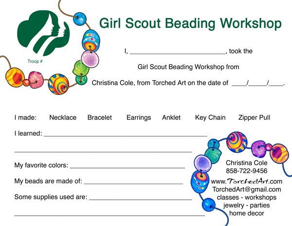 Torched Art Teaching Girl Scouts