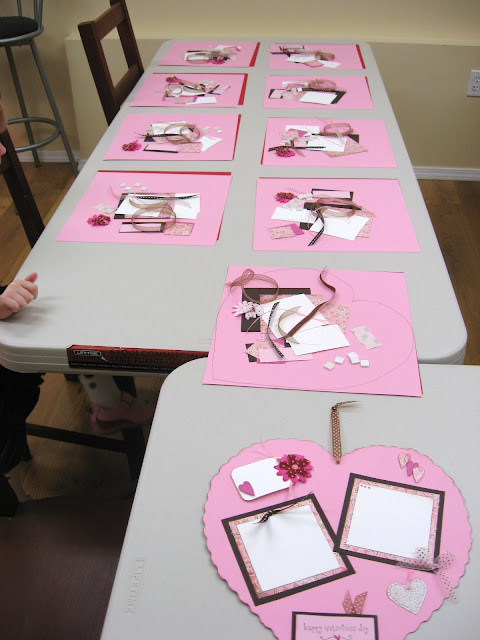 Kids Scrapbooking Giant Valentine's Day Craft