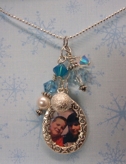 Cluster Photo Frame Charm Necklace Gifts