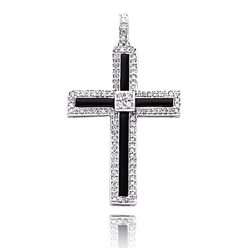 Big Diamond Onyx Cross