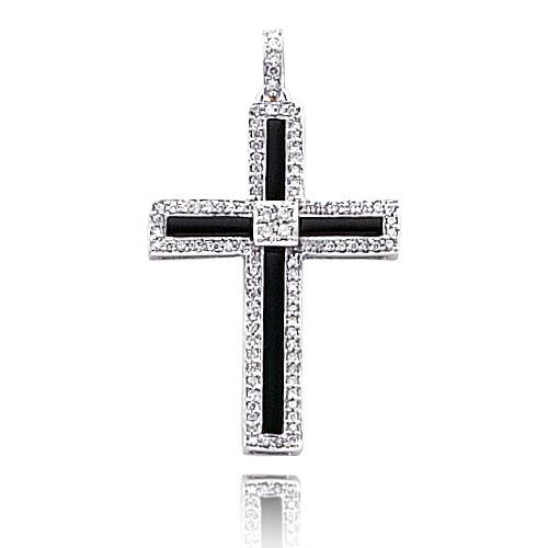Big Diamond Onyx Cross