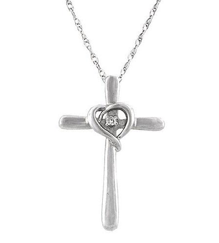 Silver CZ Cross