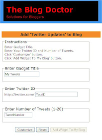 The Blog Doctor : Add Twitter to Blog in 4 Clicks