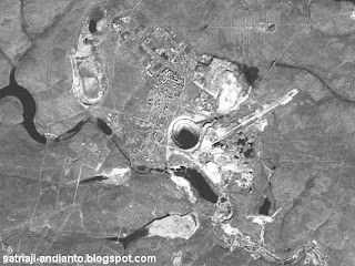 Kennecott Copper Mine As Seen From Space