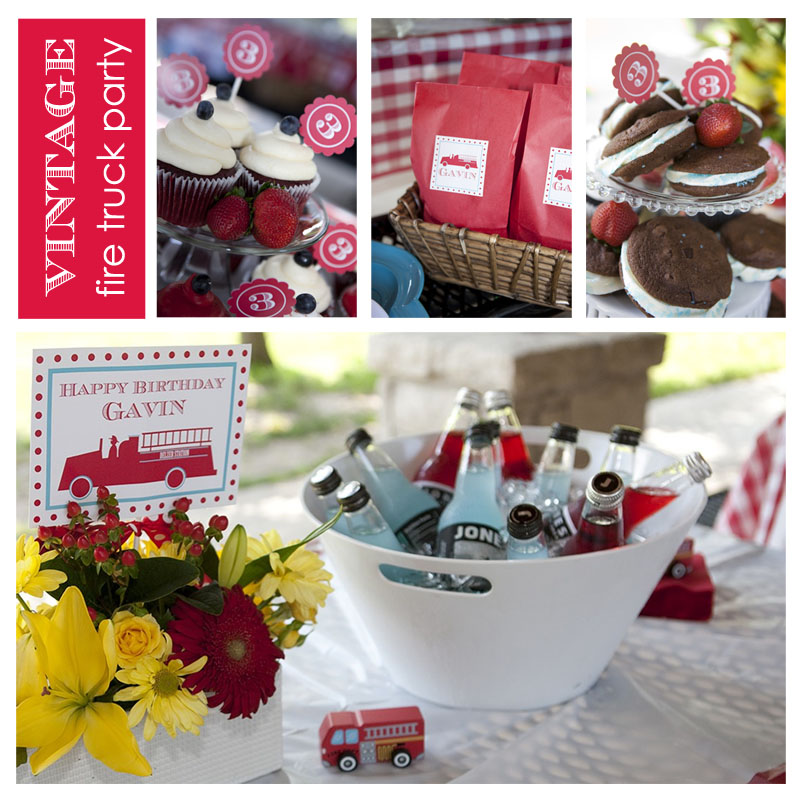A Vintage Firetruck Birthday Party: P Is For Party: {Inspiration} A Fire Truck Party