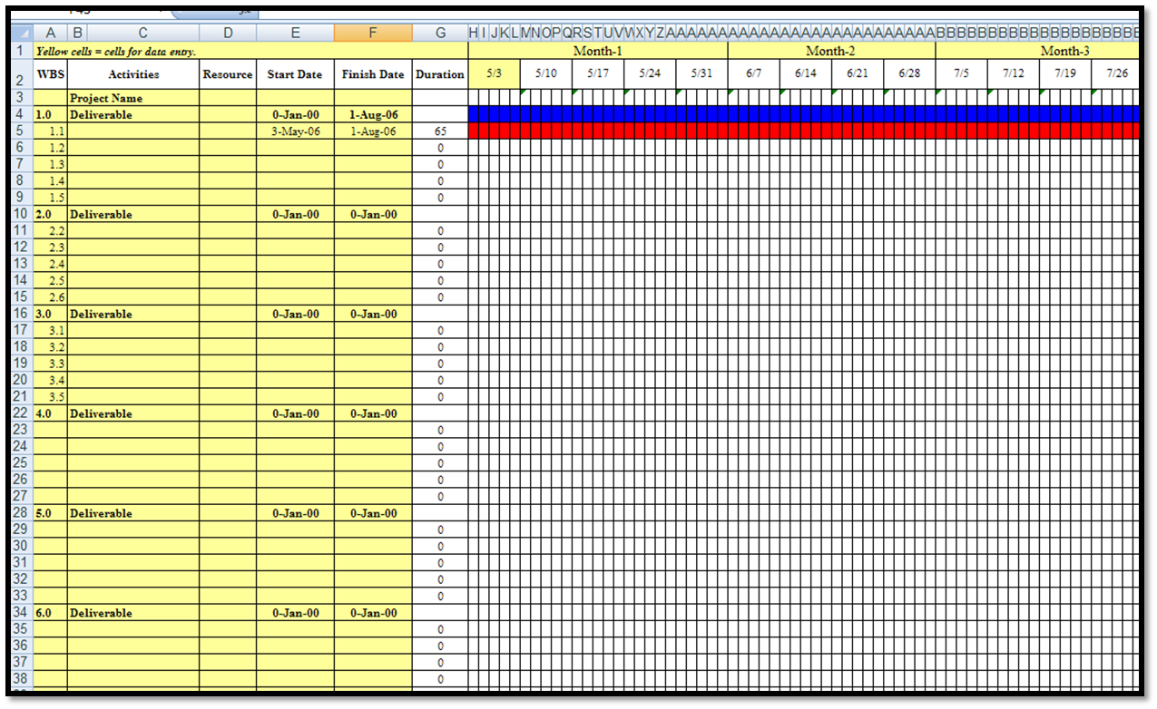 gantt chart template pro free download