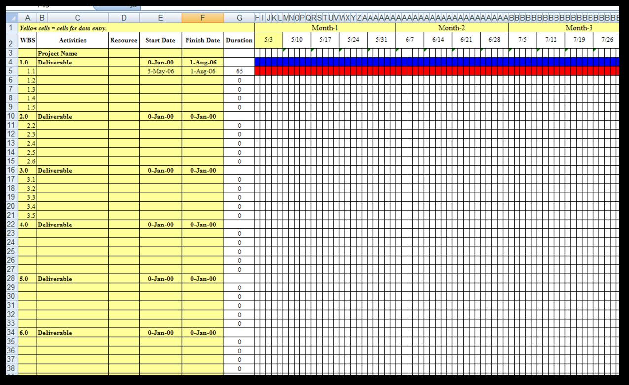 Excel Spreadsheets Help  Download A Gantt Chart Excel