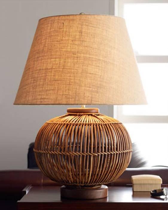 High Street Market A Woven Lamp