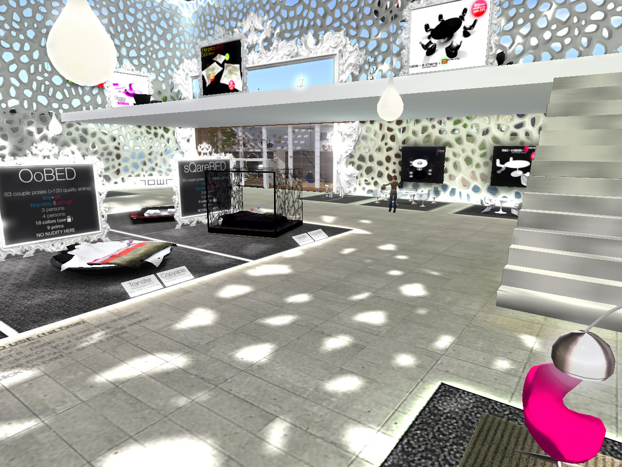 Second Life Store Second Life Furniture Glossy Design
