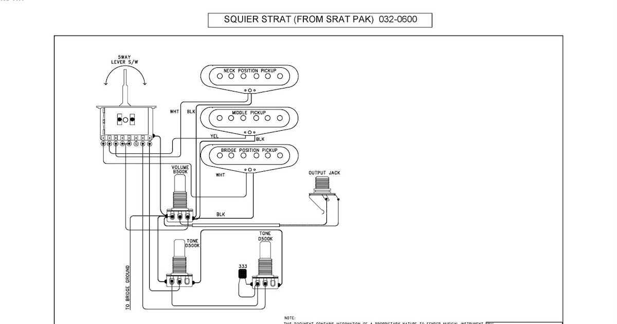 Studio 5: Electric Guitar wiring diagram and specs
