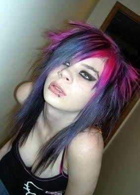 hair emo purple combinations