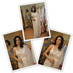 Sridevi Sizzles in transparent white saree