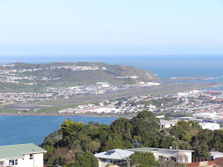 Wellington International Airport from Mount Victoria