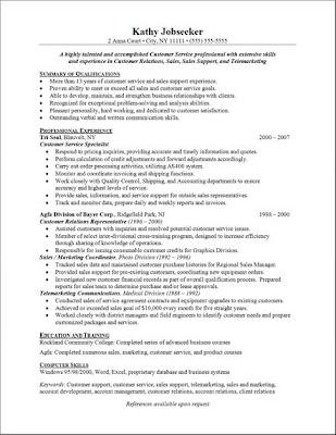 Financial Service Representative Resume Sample