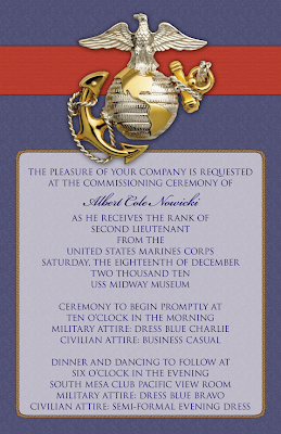 Custom Printables Cole S Commissioning Ceremony Invitations