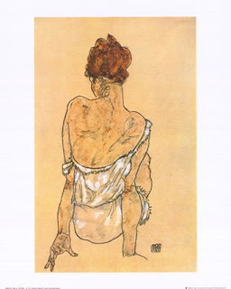 sitting woman- schiele