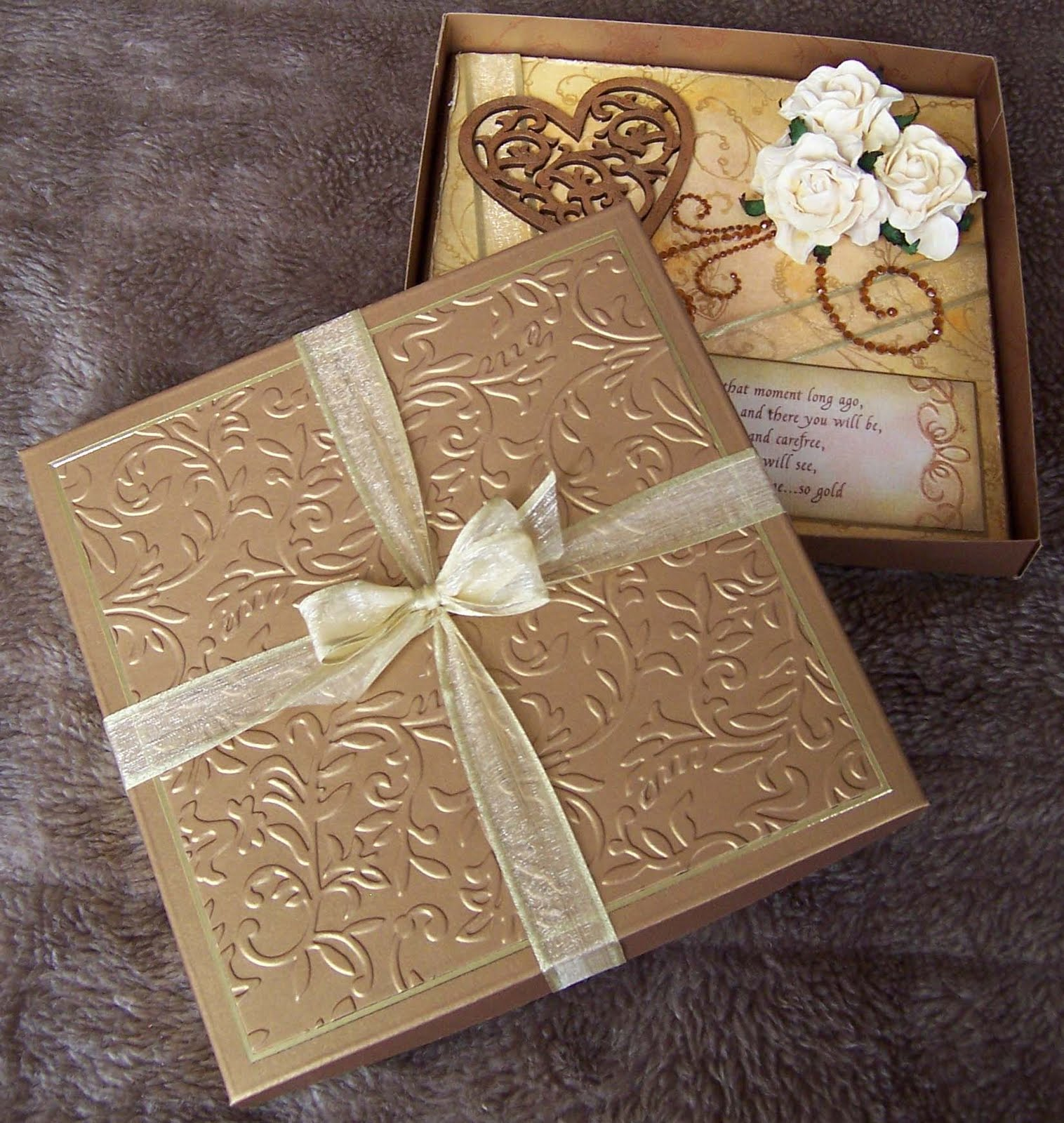 whitch craft vintage golden wedding anniversary card and