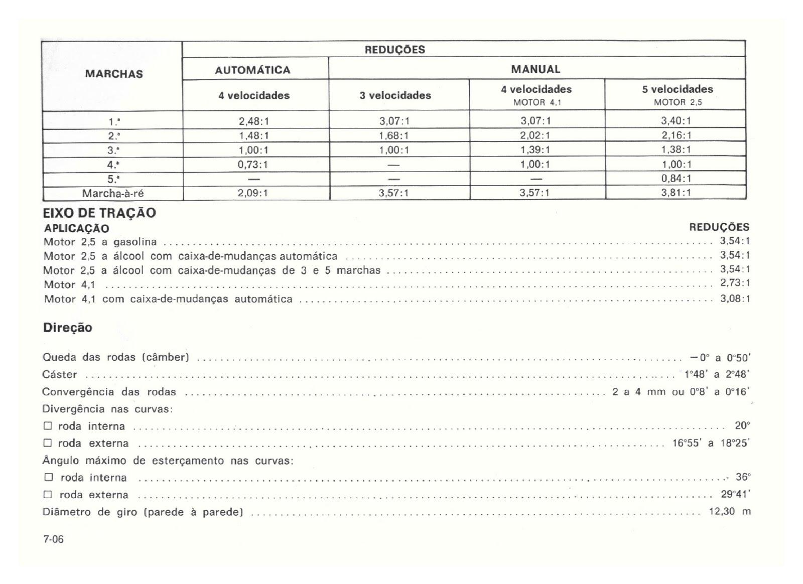 MANUAIS DO PROPRIETÁRIO: GM Opala 1992