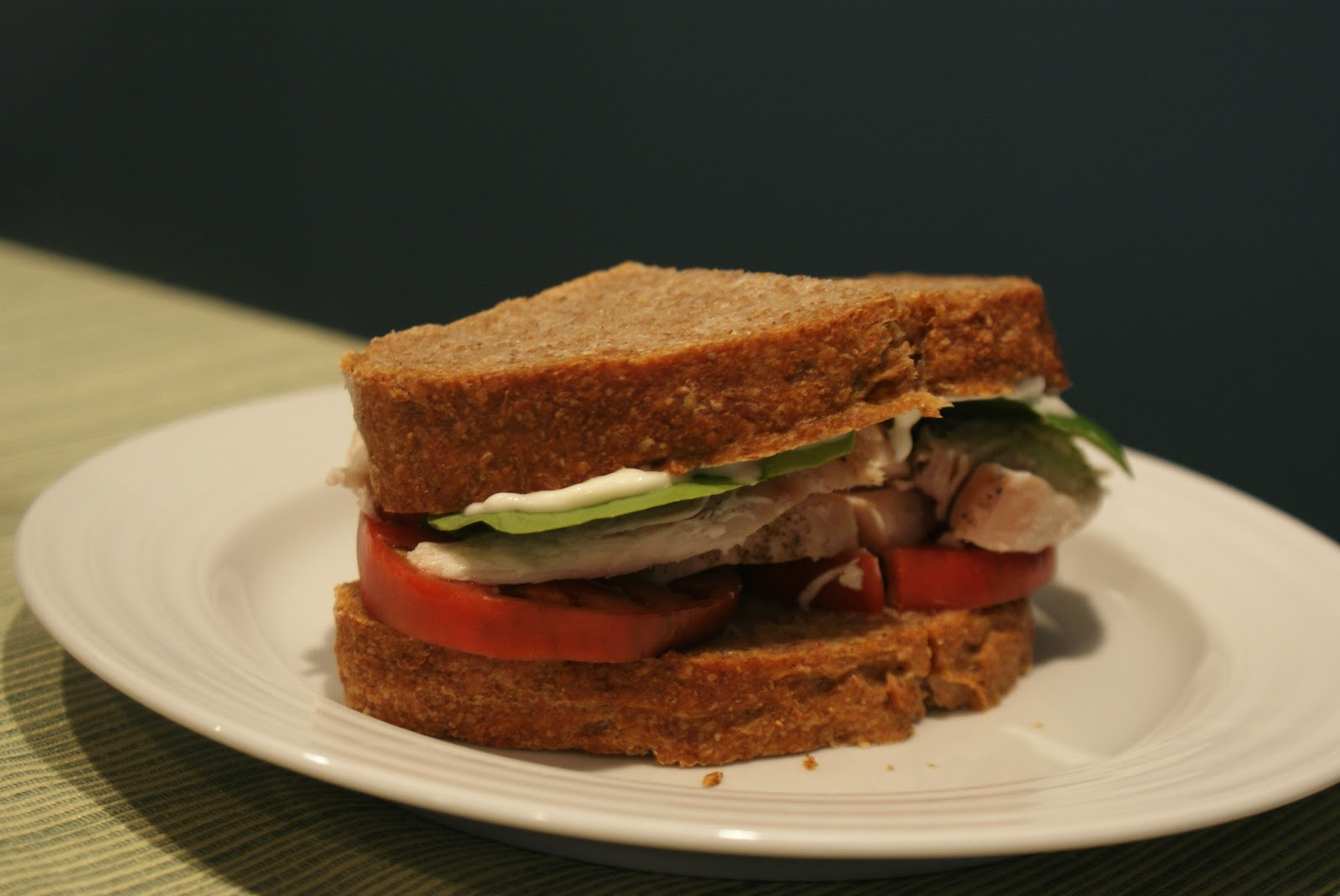Piccante Dolce: Unprocessed: Homemade Roast Turkey Sandwich