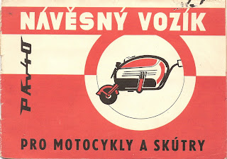 Ad for PAV 40 motorcycle trailer.