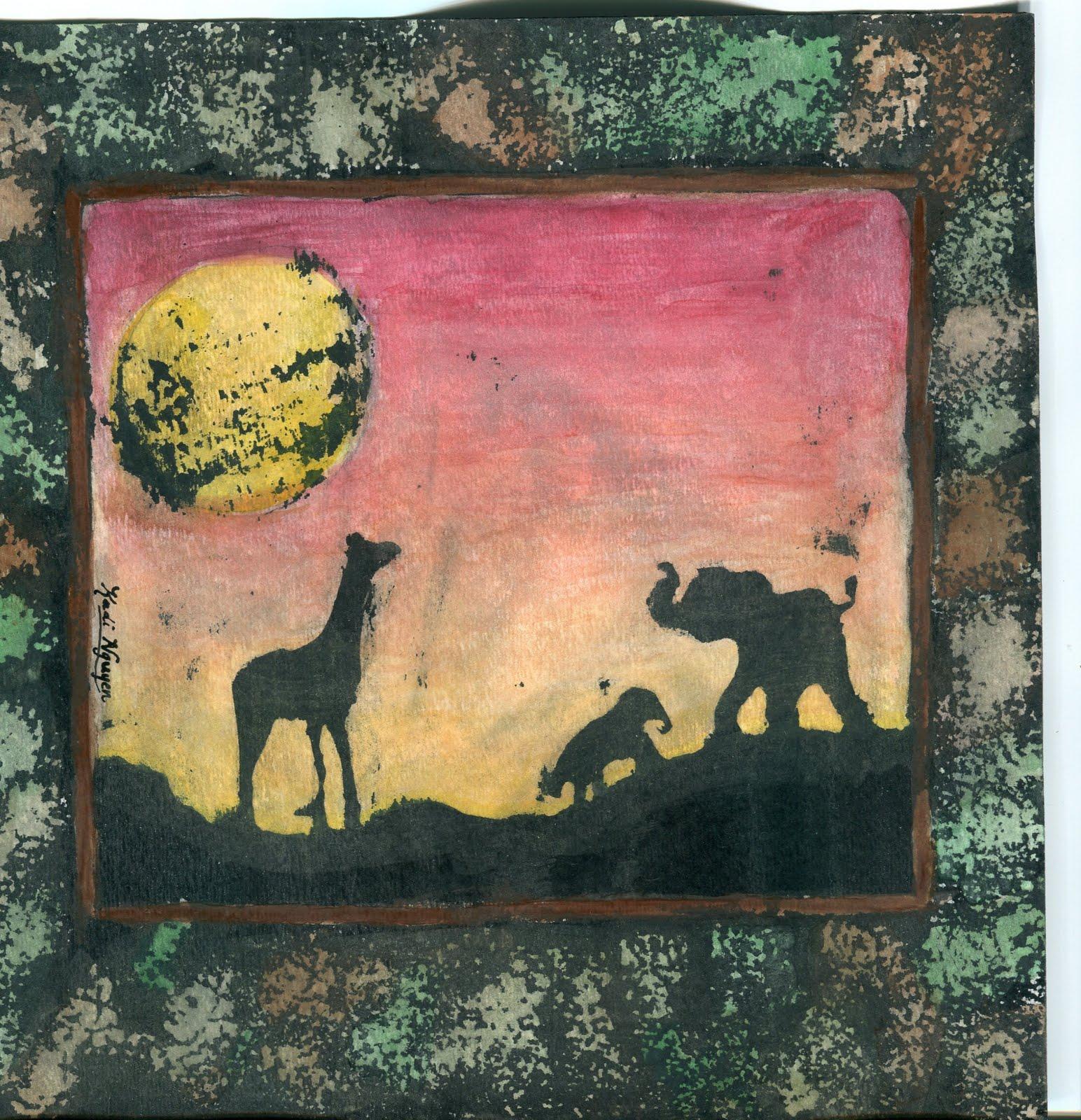 P C K Art Room Ink Resist Watercolor Eighth Grade