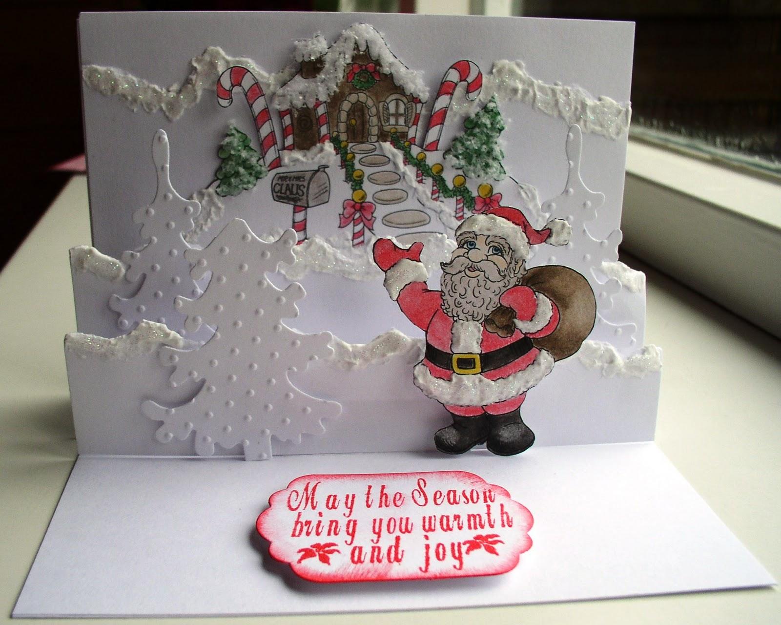 Favoriete Kaartcreaties: Pop up kaart voor de kerst #TC99