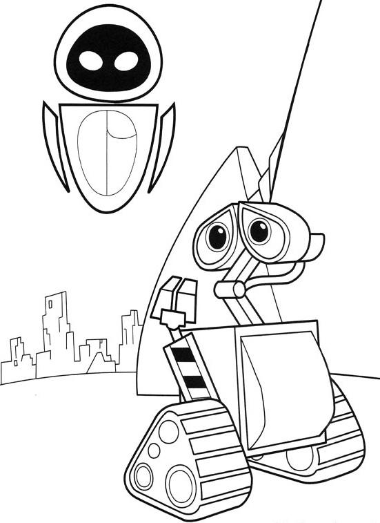 Disney: Dibujos de WALL-E para colorear