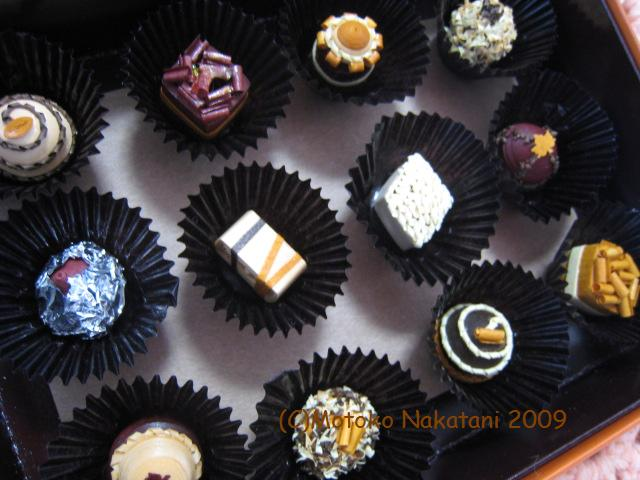 quilled chocolate assortment
