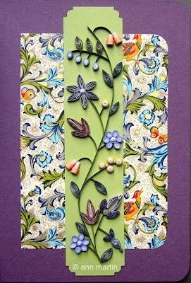 quilled flower bookmark