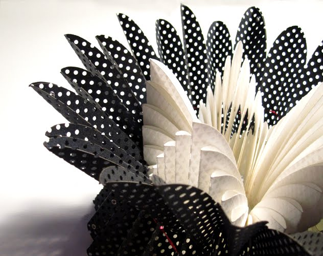 black and white perforated paper jewelry