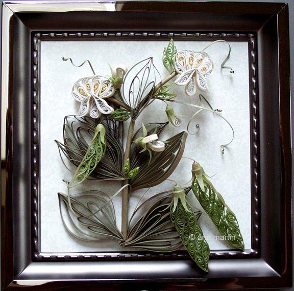 quilled peas in titanium frame