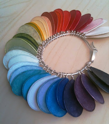 Paper Jewelry Sample Colors