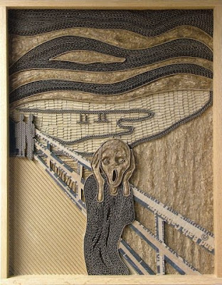 The Scream in cardboard