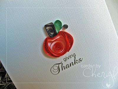 quilled pumpkin card
