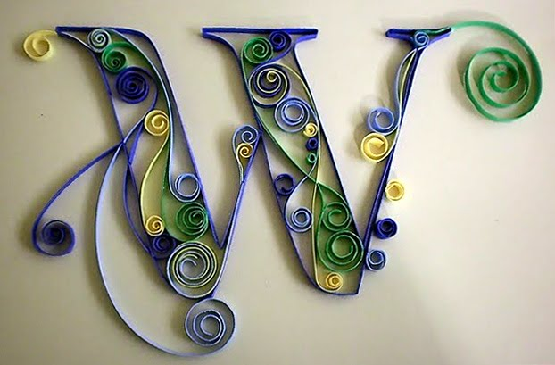lu-w Quilling Monogram Letters Templates on