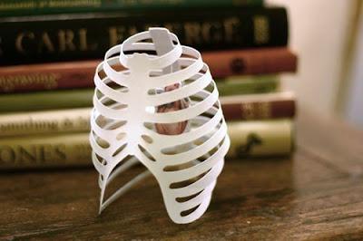 Cut Paper Rib Cage
