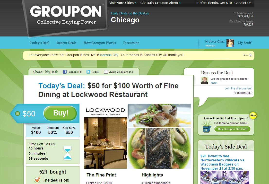 Happy Cloud Moments: ~ Awesome Local Deals at Groupon com ~