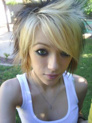 Phenomenal Hair Style Trend General Cool Blonde Emo Haircuts Short Hairstyles Gunalazisus