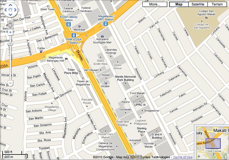 google maps paseo de magallanes