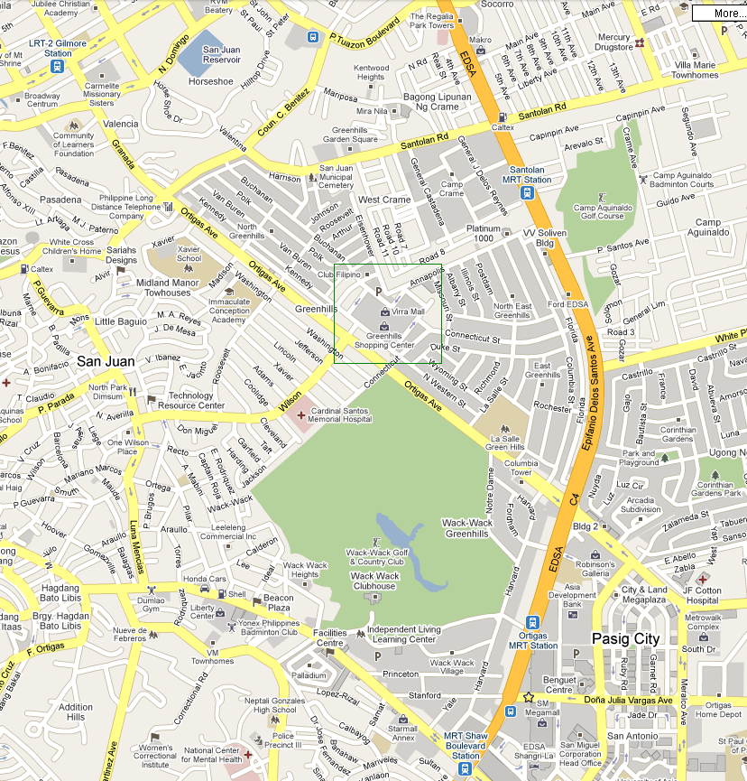 California Pizza Kitchen Annapolis: Infoholics: How To Get To Greenhills Shopping Center?