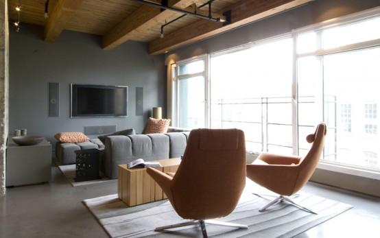 Greatinteriordesig: Ultimate Bachelor Loft In A Remodeled